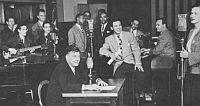 Radio-ekipa ranog CBS-a u punom sastavu